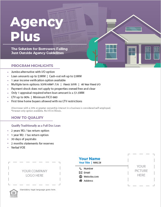 Non-QM Agency Plus Program Flyer Thumbnail