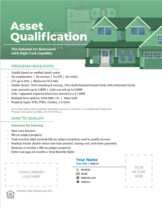 Non-QM Asset Qualification Program Flyer Thumbnail