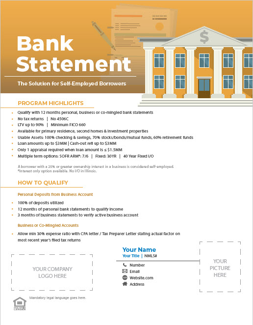Non-QM Bank Statement Flyer Thumbnail